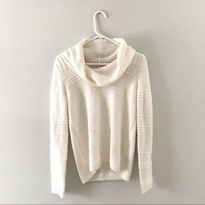 Soft ivory cowl neck sweater